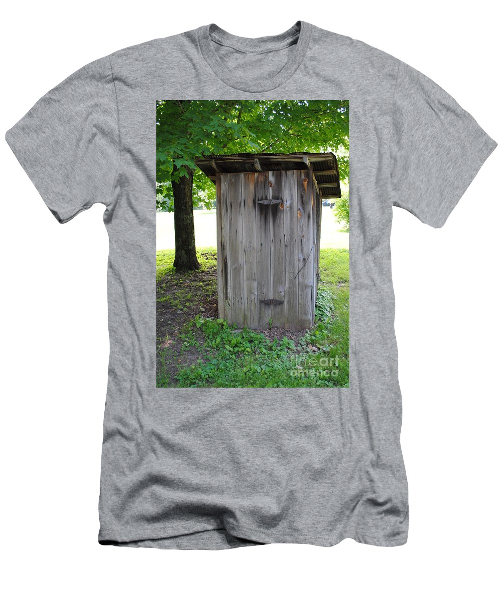 Outhouse Men's T-Shirt (Athletic Fit) featuring the photograph The Outhouse by Jost Houk