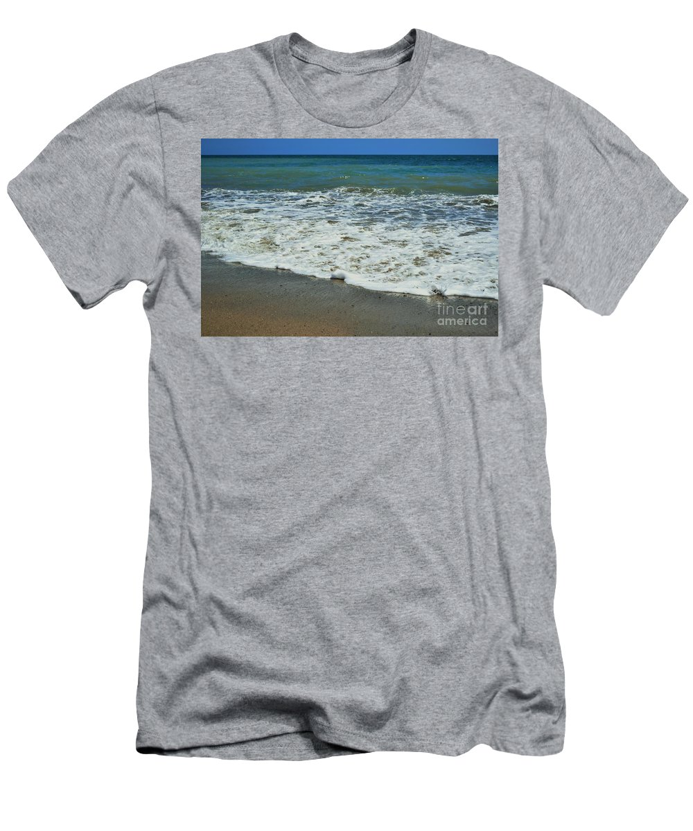 Beach Men's T-Shirt (Athletic Fit) featuring the photograph The Pacific Ocean by LKB Art and Photography