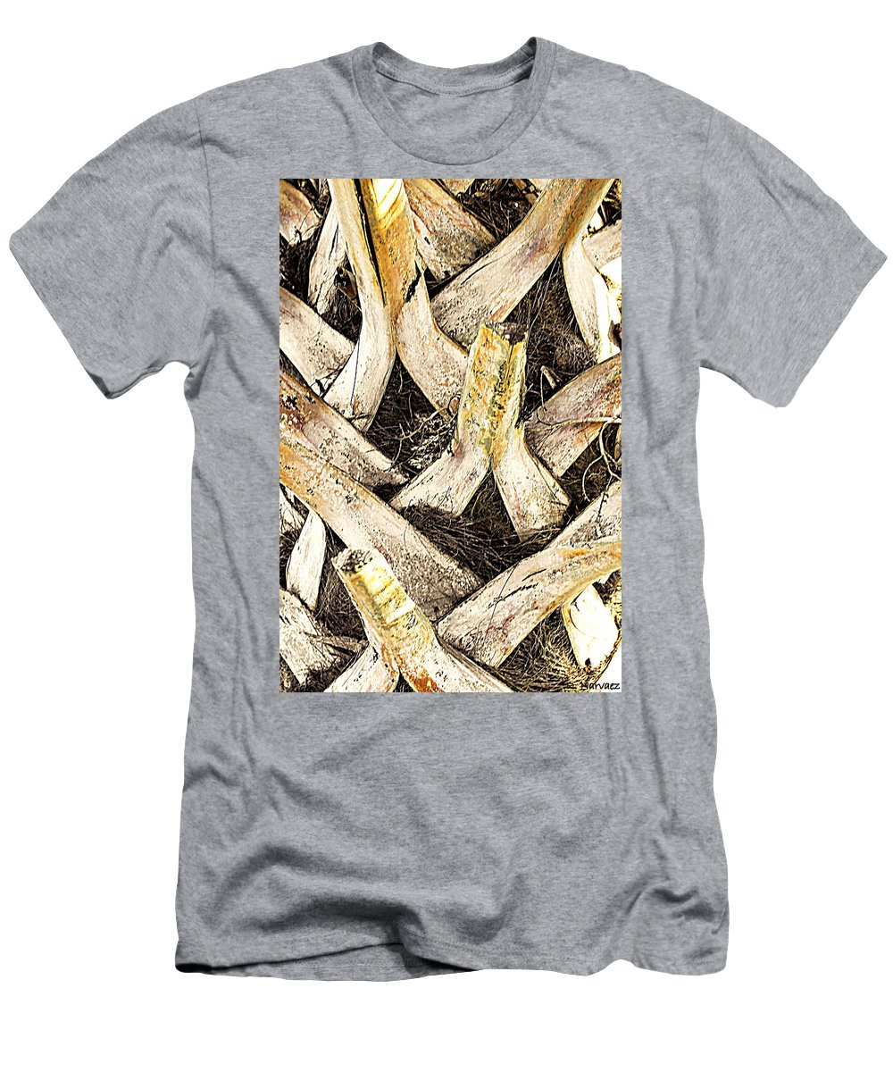 Close Up Men's T-Shirt (Athletic Fit) featuring the photograph The Palm by Rachel Narvaez