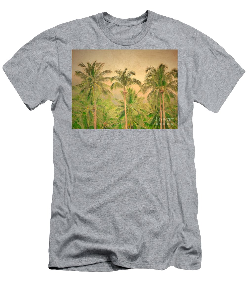 Palm Men's T-Shirt (Athletic Fit) featuring the photograph The Palms by Tara Turner
