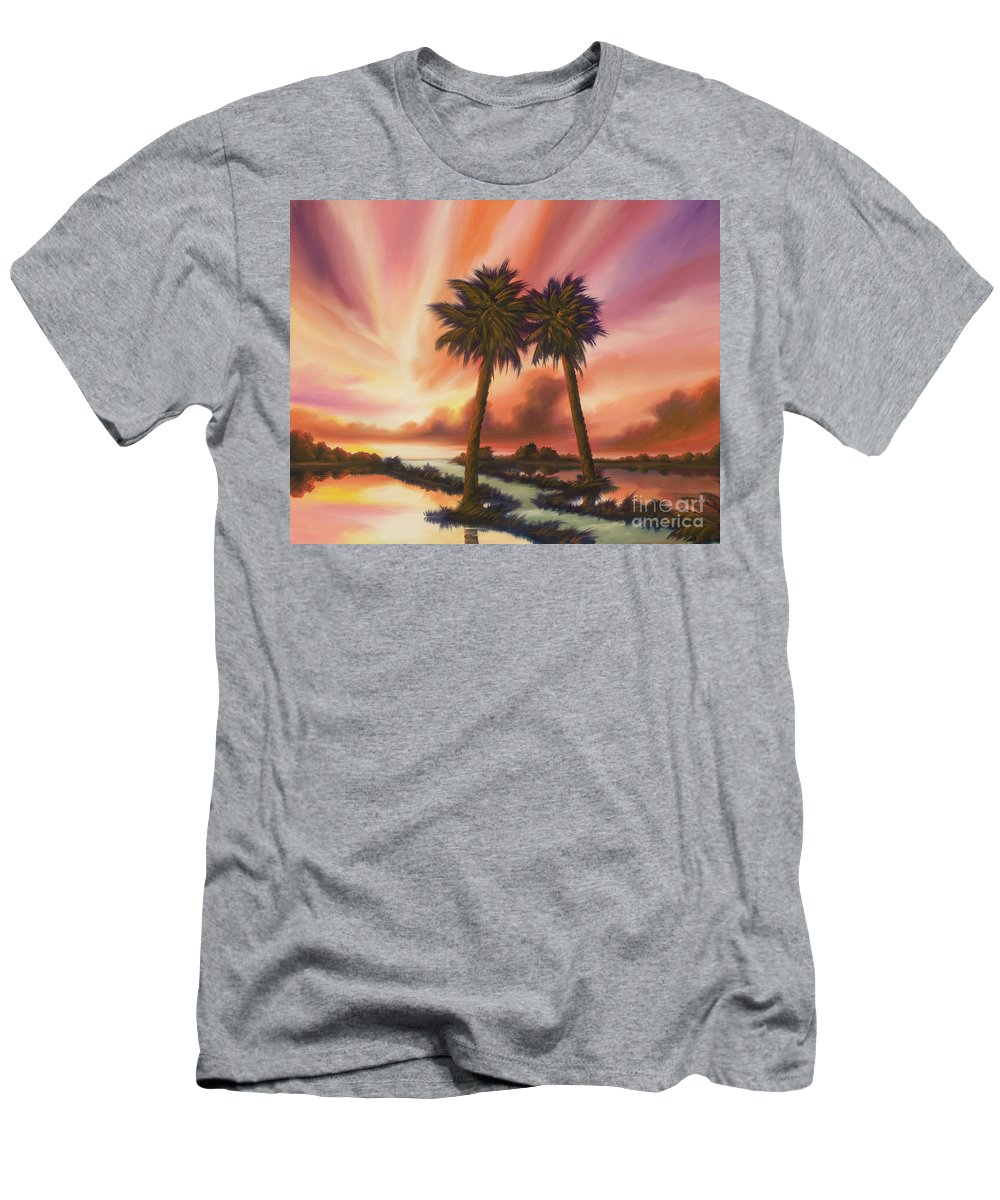 Skyscape Men's T-Shirt (Athletic Fit) featuring the painting The Path Ahead by James Christopher Hill
