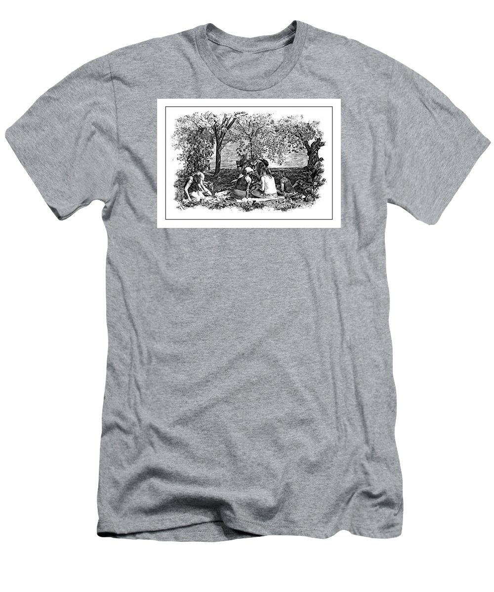 Picnic T-Shirt featuring the photograph The Picnic by Margie Wildblood