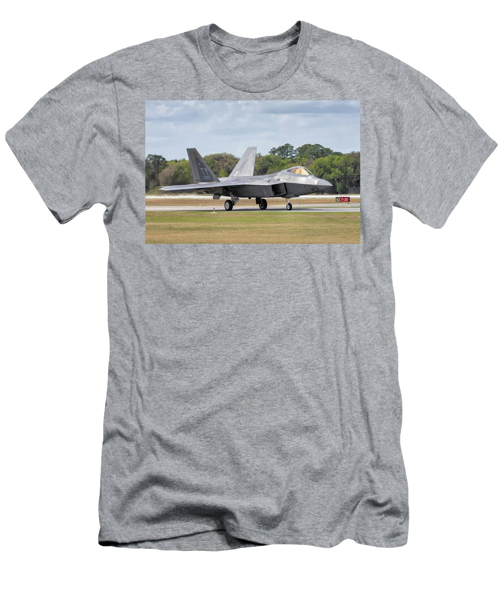2017 Men's T-Shirt (Athletic Fit) featuring the photograph The Raptor Returns - 2017 Christopher Buff, Www.aviationbuff.com by Chris Buff