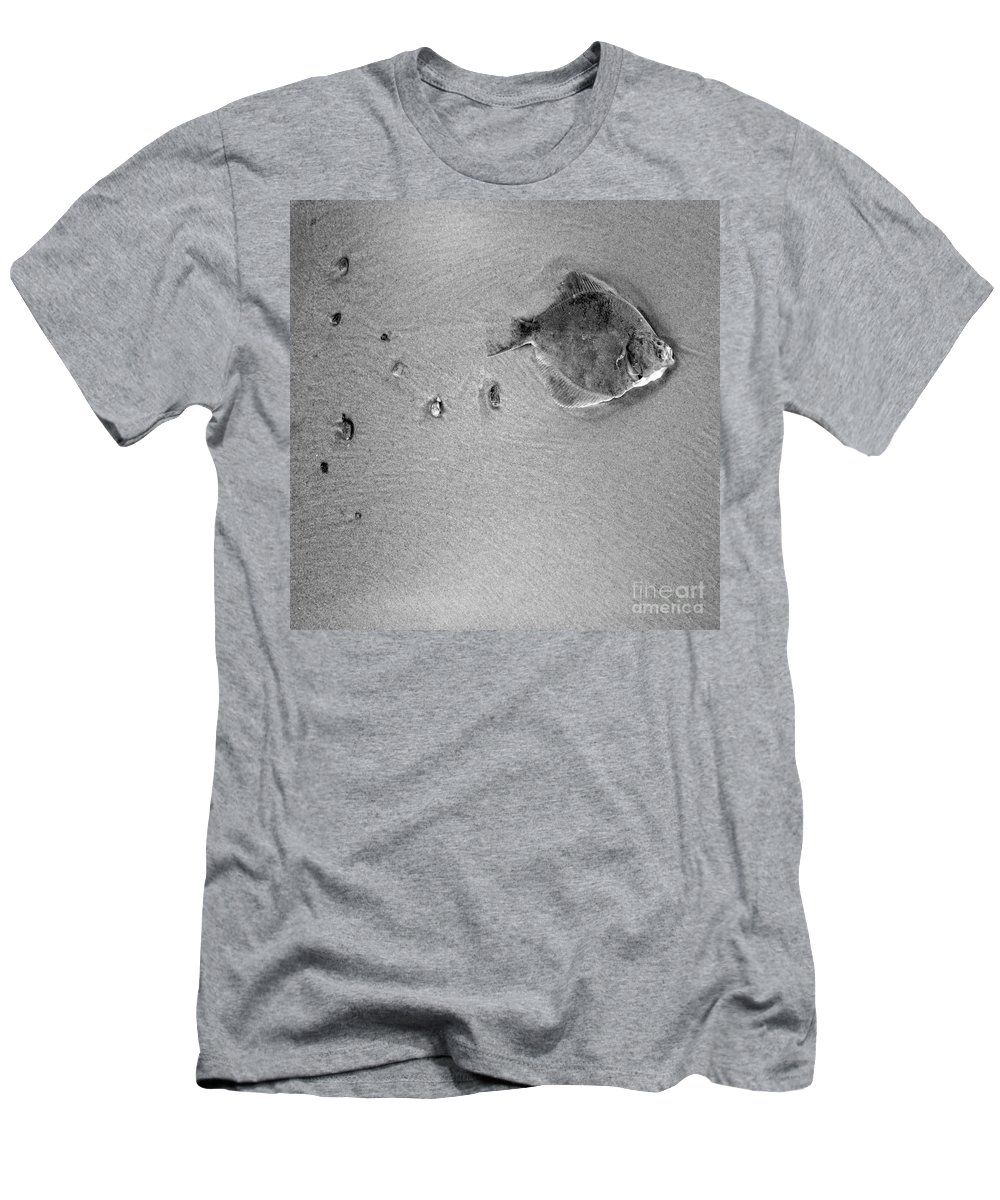 Fish Men's T-Shirt (Athletic Fit) featuring the photograph The Relief by Angel Ciesniarska