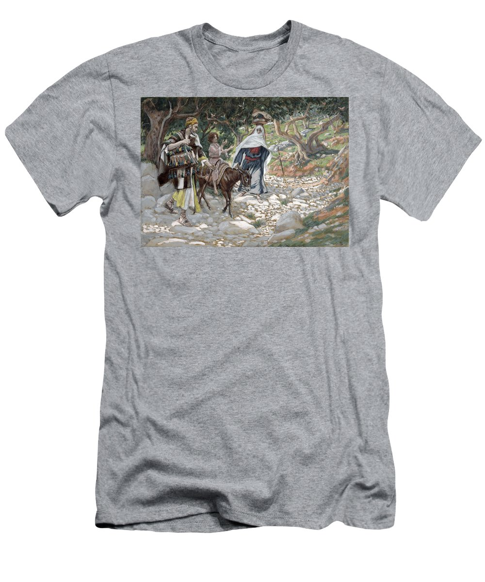 Ass Men's T-Shirt (Athletic Fit) featuring the painting The Return From Egypt by Tissot