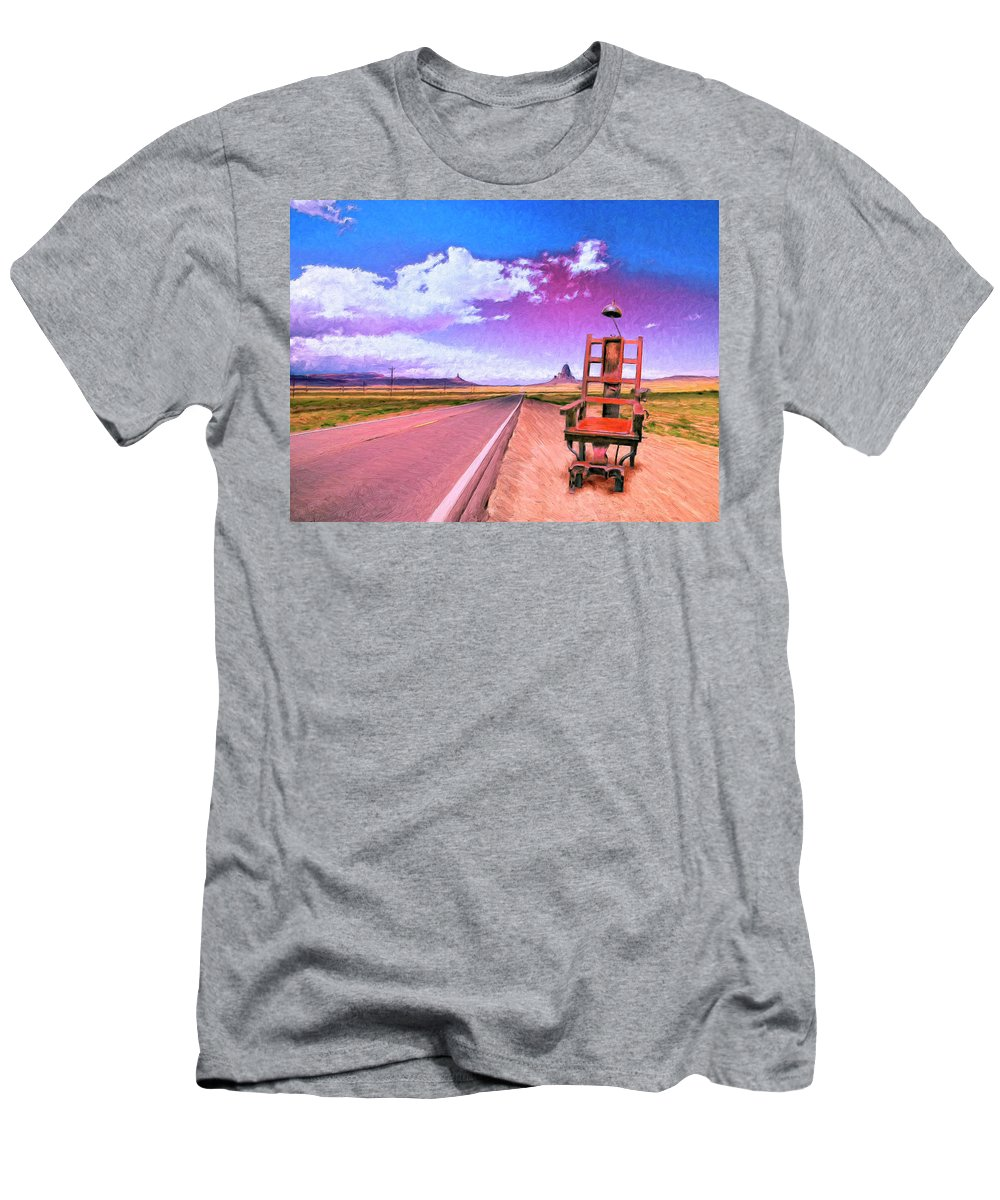 Highway Men's T-Shirt (Athletic Fit) featuring the painting The Road To Perdition by Dominic Piperata