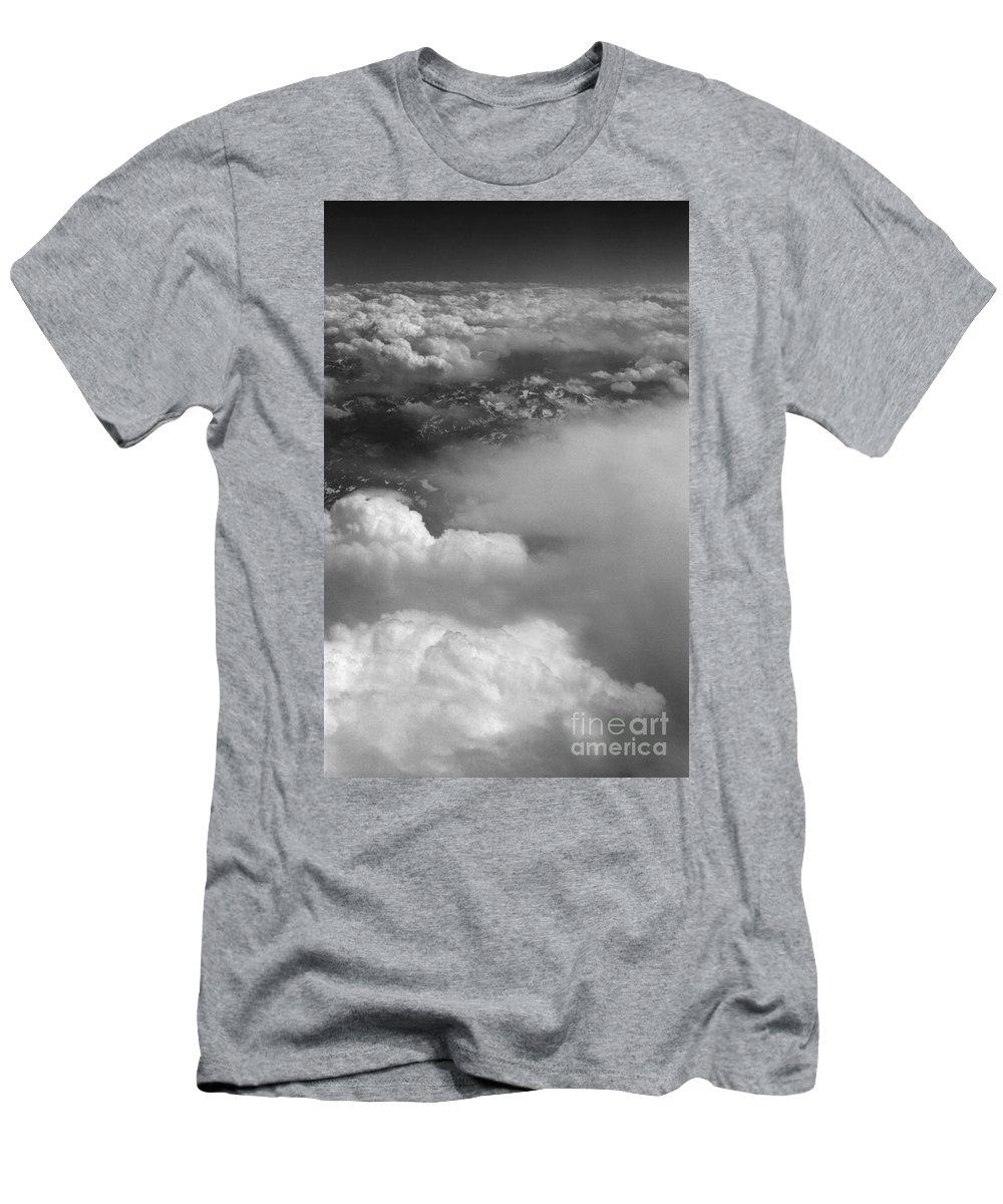 Aerial Photography Men's T-Shirt (Athletic Fit) featuring the photograph The Rockies by Richard Rizzo