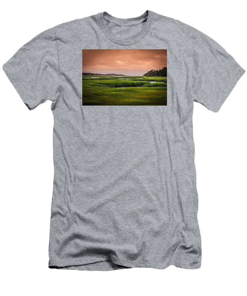 Duck Creek Marsh T-Shirt featuring the photograph The Salt Marsh by Heather Hubbard