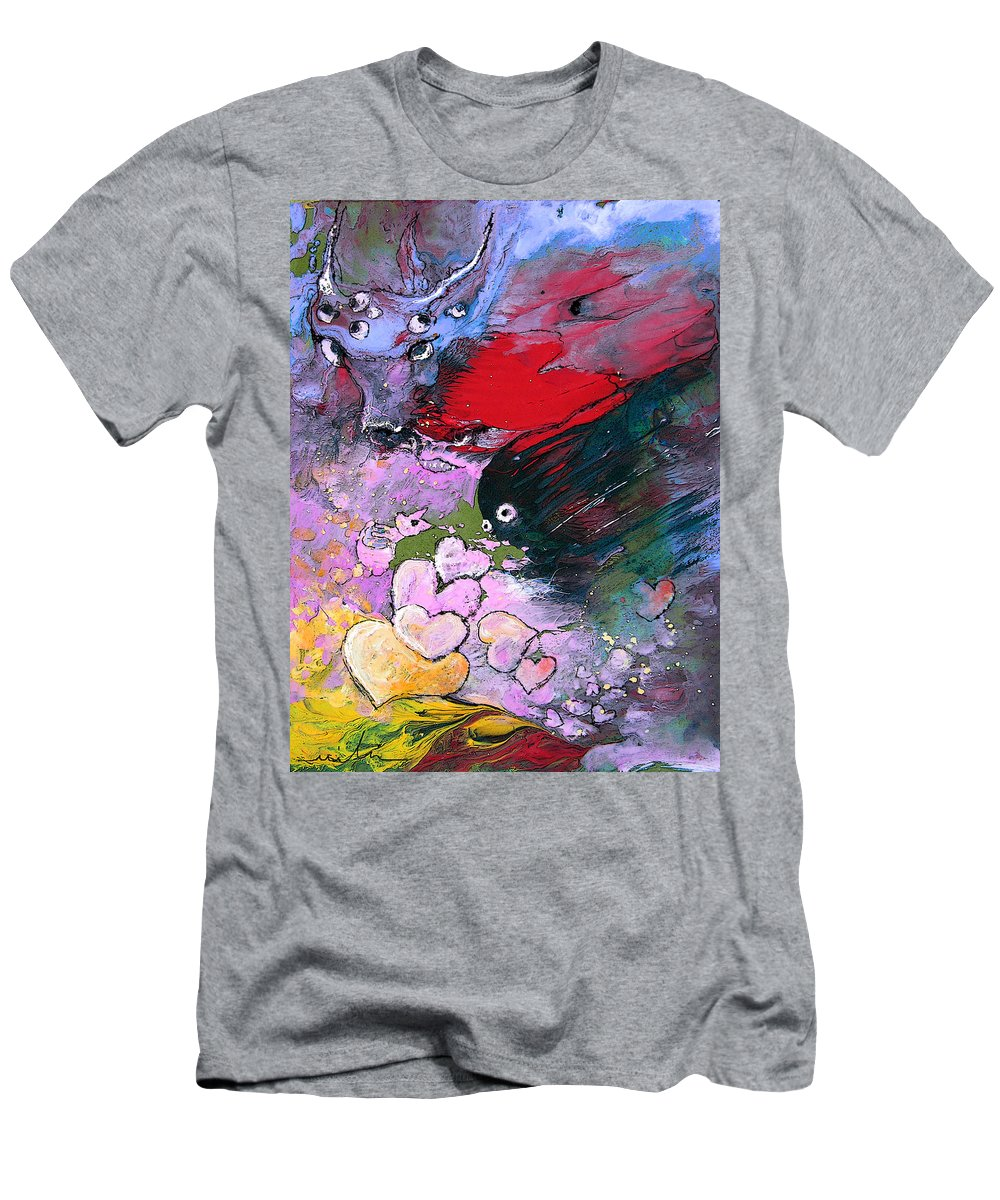 Art Miki Men's T-Shirt (Athletic Fit) featuring the painting The Sea Of Lost Hearts by Miki De Goodaboom