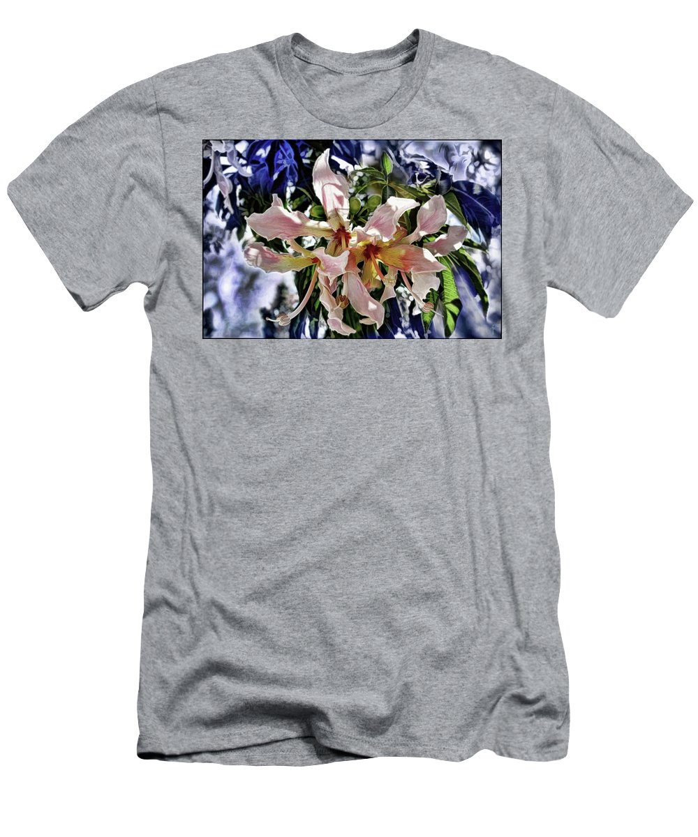 Floss Silk Tree Men's T-Shirt (Athletic Fit) featuring the photograph The Silk Flowers by Daniel Arrhakis