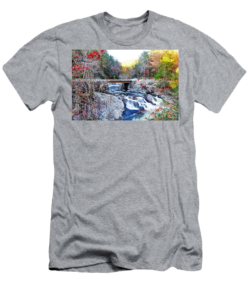 Smokey Mountain Men's T-Shirt (Athletic Fit) featuring the photograph The Sinks by Brittany Horton