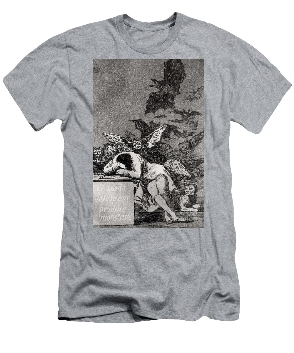 Goya T-Shirt featuring the drawing The Sleep of Reason Produces Monsters by Goya