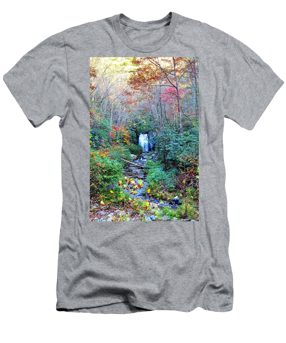 Smokey Mountain Men's T-Shirt (Athletic Fit) featuring the photograph The Smokies by Brittany Horton