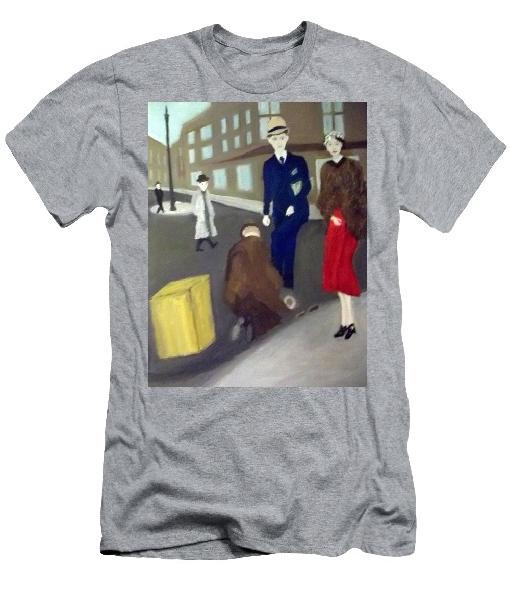 Posh Men's T-Shirt (Athletic Fit) featuring the painting The Social Divide by Peter Gartner