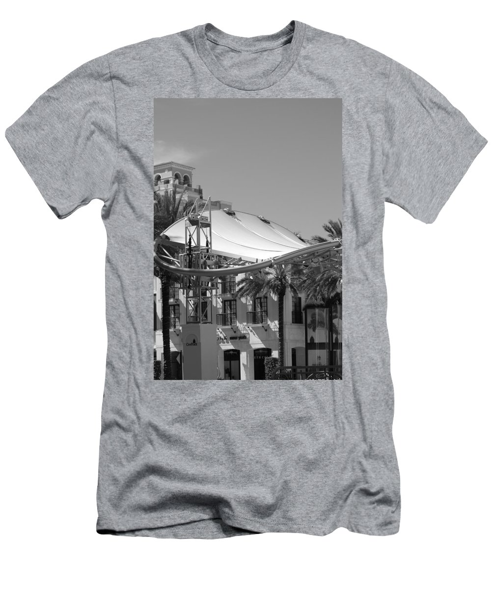 Black And White Men's T-Shirt (Athletic Fit) featuring the photograph The Stage by Rob Hans
