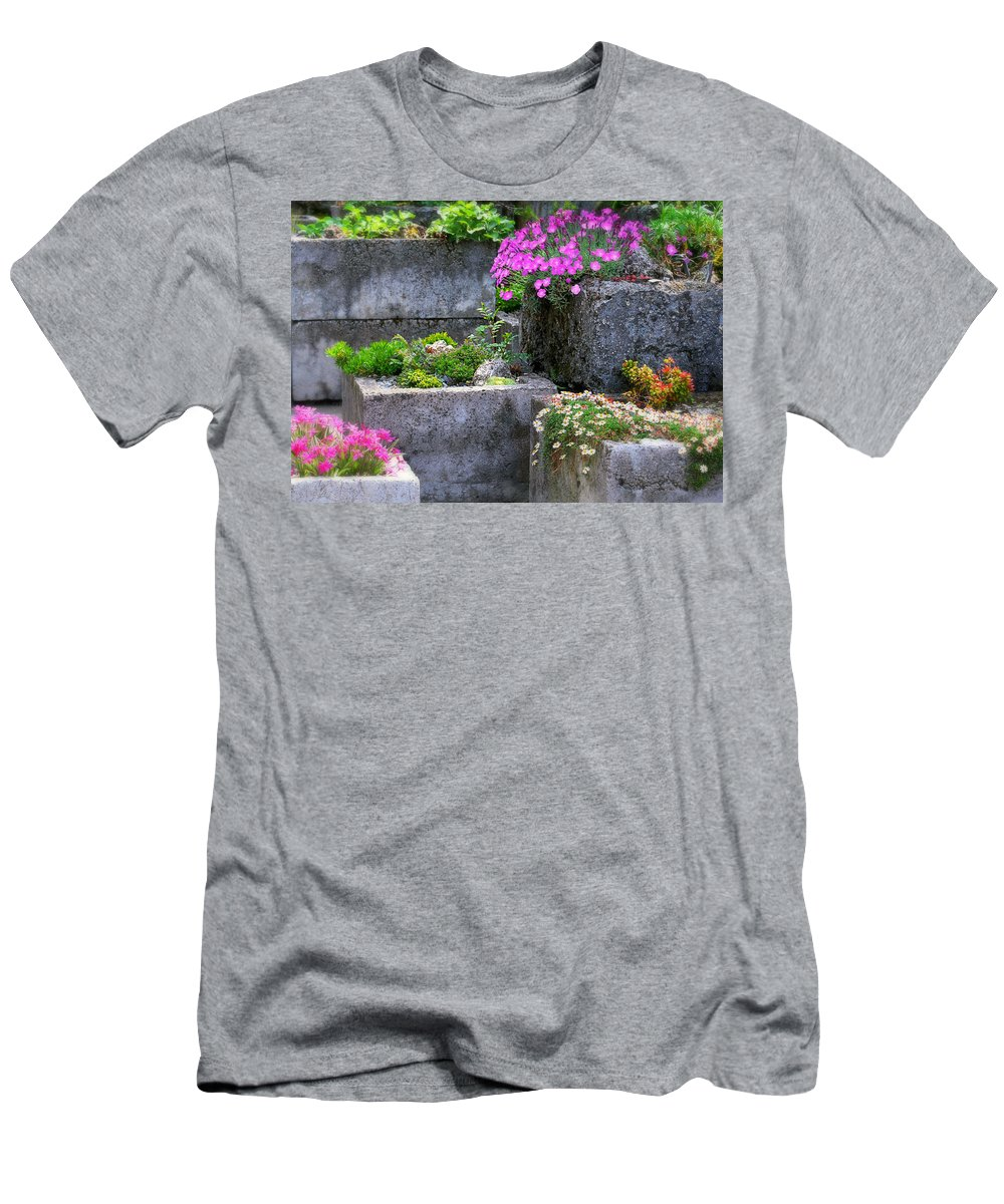 Stone Planters Men's T-Shirt (Athletic Fit) featuring the photograph The Stone Planters by Diana Angstadt