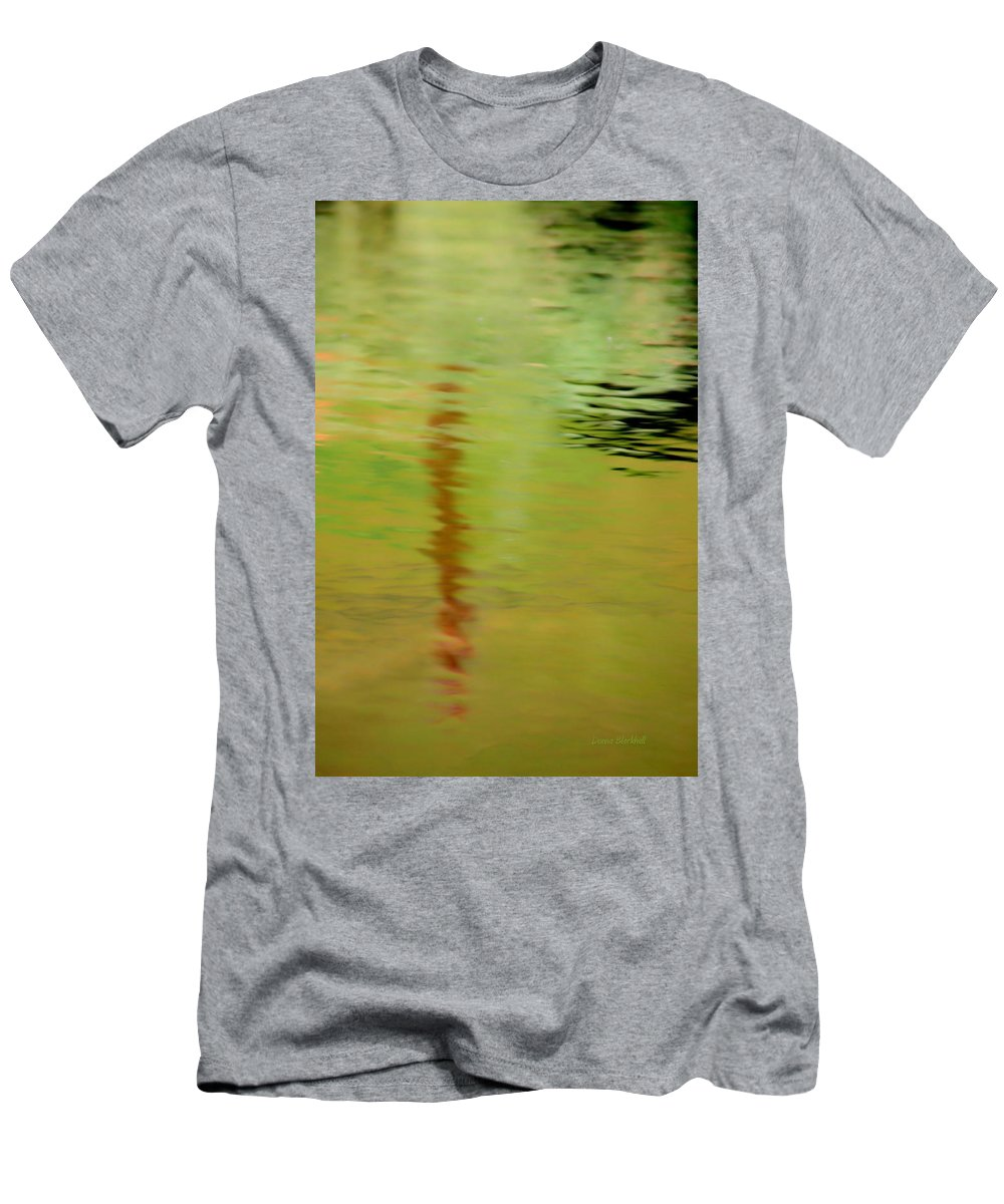 Water Men's T-Shirt (Athletic Fit) featuring the photograph The Thin Red Line by Donna Blackhall