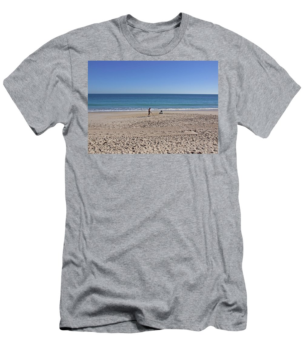 Florida Men's T-Shirt (Athletic Fit) featuring the photograph The Treasure Coast At Vero Beach In Florida by Allan Hughes