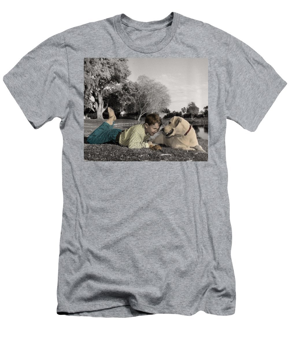The Twelve Gifts Of Birth Men's T-Shirt (Athletic Fit) featuring the photograph The Twelve Gifts Of Birth - Reverence 1 by Jill Reger