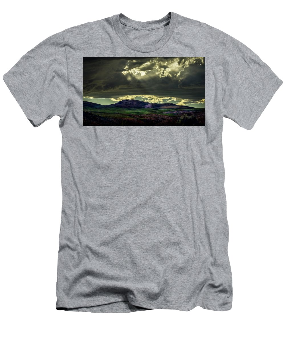 Men's T-Shirt (Athletic Fit) featuring the photograph The Twisted Sky by Dan Kinghorn