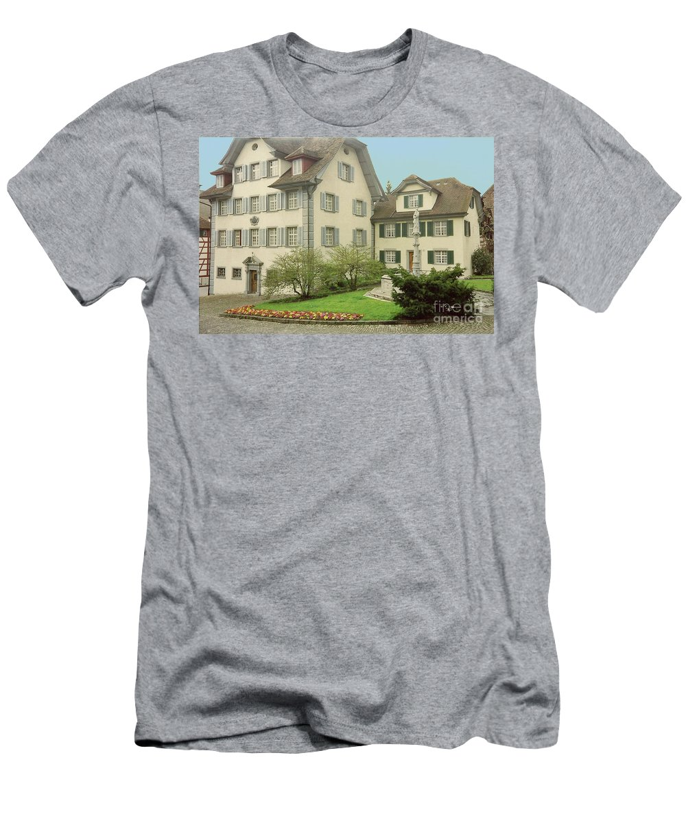 Switzerland Men's T-Shirt (Athletic Fit) featuring the photograph The Village by Jost Houk