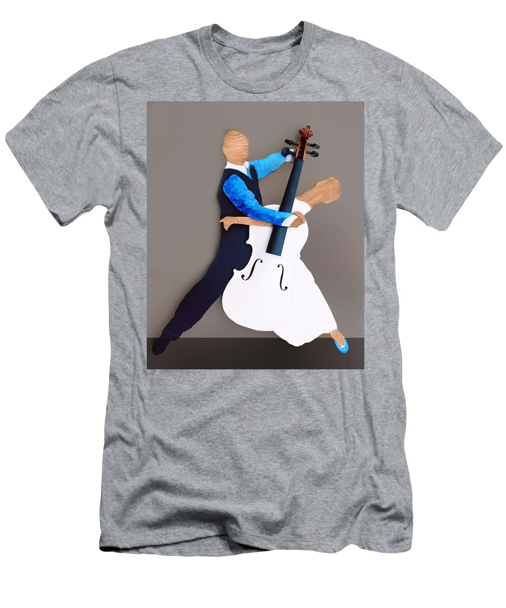 Dance Men's T-Shirt (Athletic Fit) featuring the sculpture The Waltz by Steve Karol