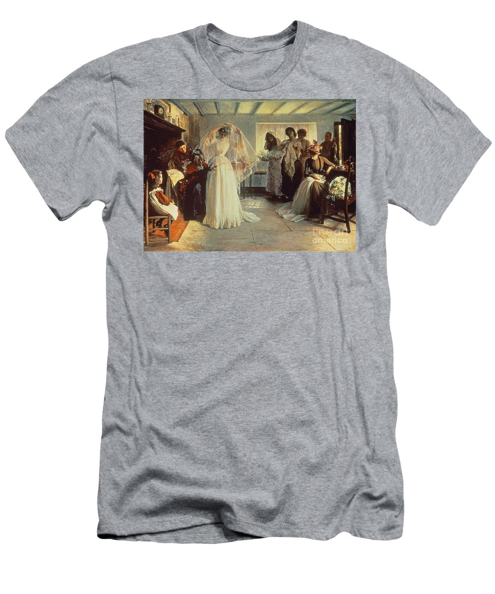 Wedding Morning Men's T-Shirt (Athletic Fit) featuring the painting The Wedding Morning by John Henry Frederick Bacon