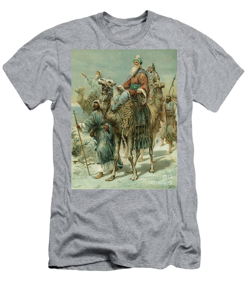The Wise Men Seeking Jesus T-Shirt featuring the painting The Wise Men Seeking Jesus by Ambrose Dudley