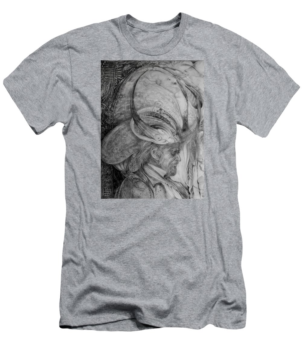 Drawing T-Shirt featuring the drawing The Wizard Of Earth-sea by Otto Rapp