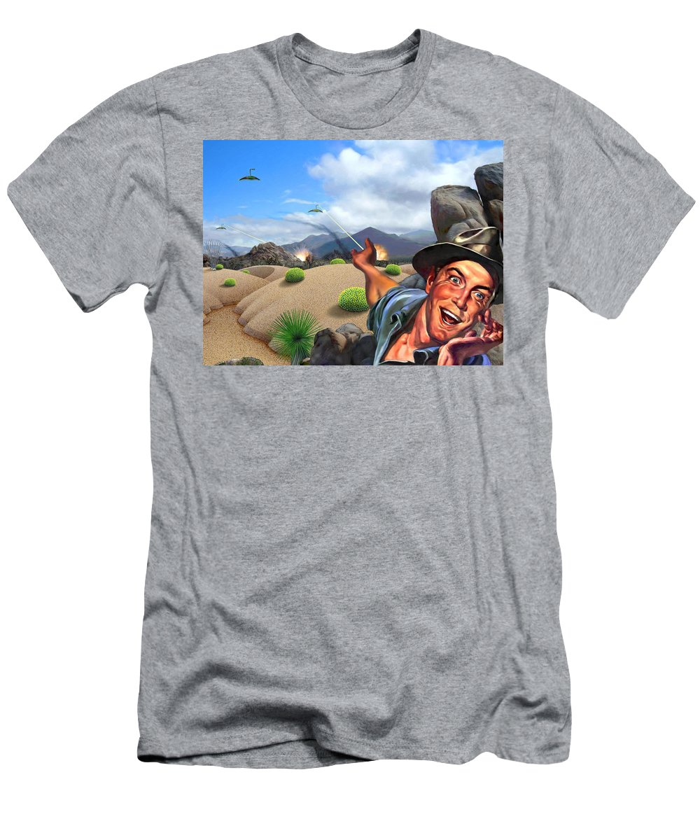 Landscape Men's T-Shirt (Athletic Fit) featuring the digital art They're Here by Snake Jagger