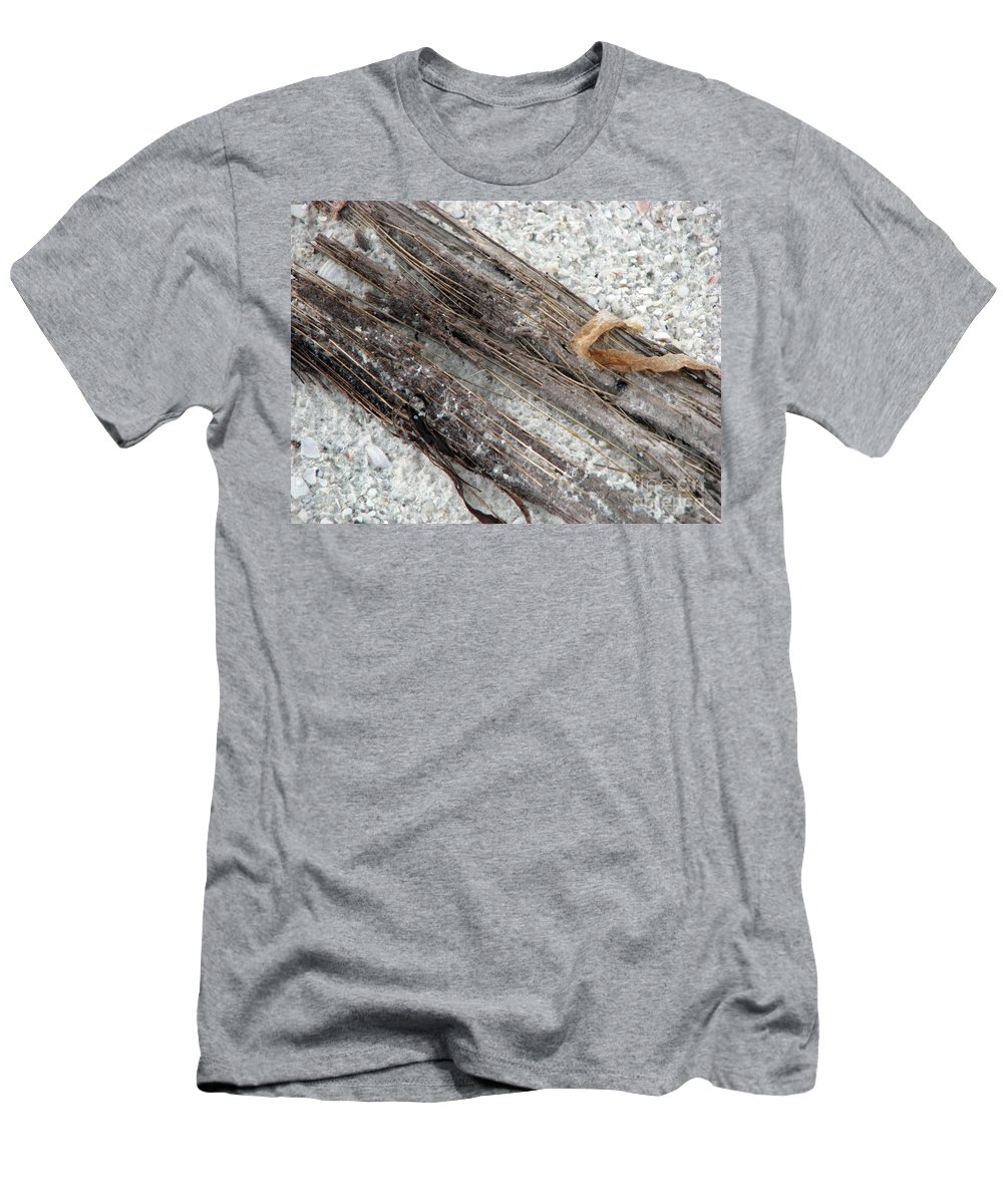 Beaches Men's T-Shirt (Athletic Fit) featuring the photograph Things On The Beach by Amanda Barcon
