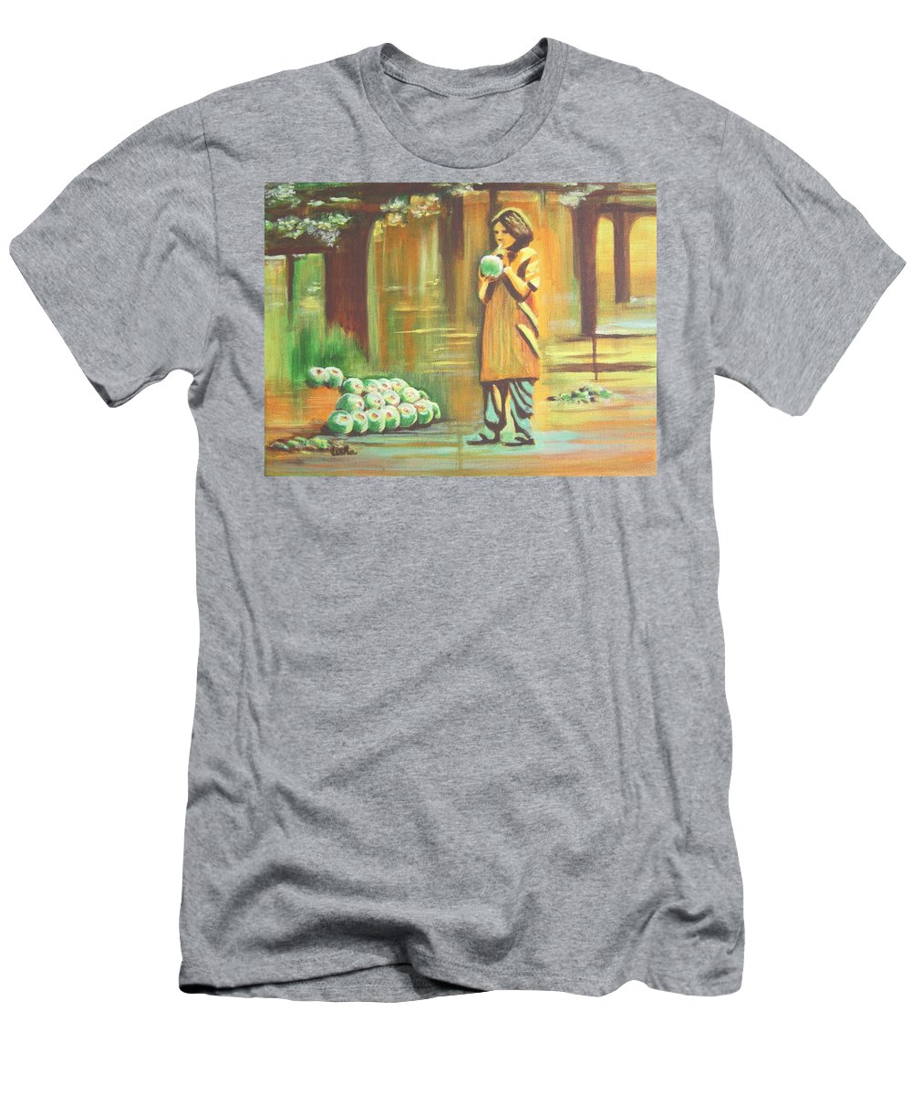 Thirst Men's T-Shirt (Athletic Fit) featuring the painting Thirst Quenched by Usha Shantharam