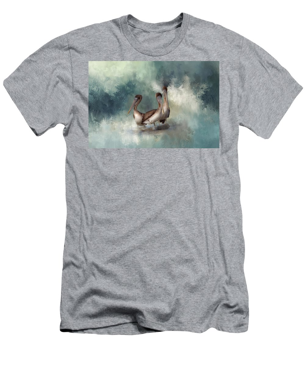 Pelican Men's T-Shirt (Athletic Fit) featuring the photograph Three Amigos by Kim Hojnacki