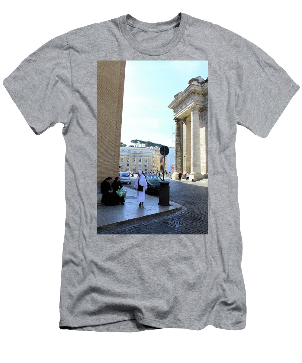 Rome Men's T-Shirt (Athletic Fit) featuring the photograph Three Sisters by Munir Alawi