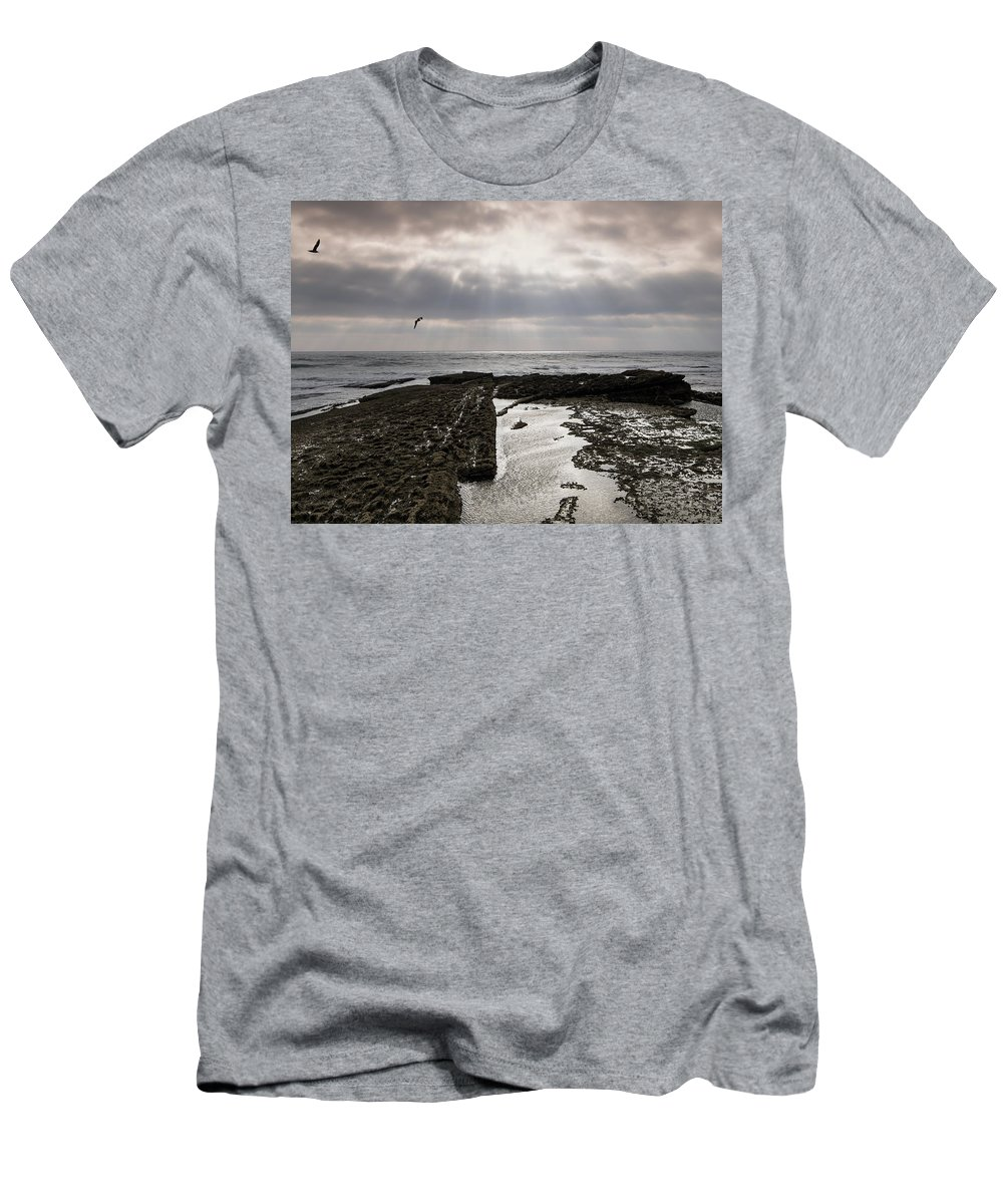 Throne Men's T-Shirt (Athletic Fit) featuring the photograph Throne Of Seagulls by Edgar Laureano