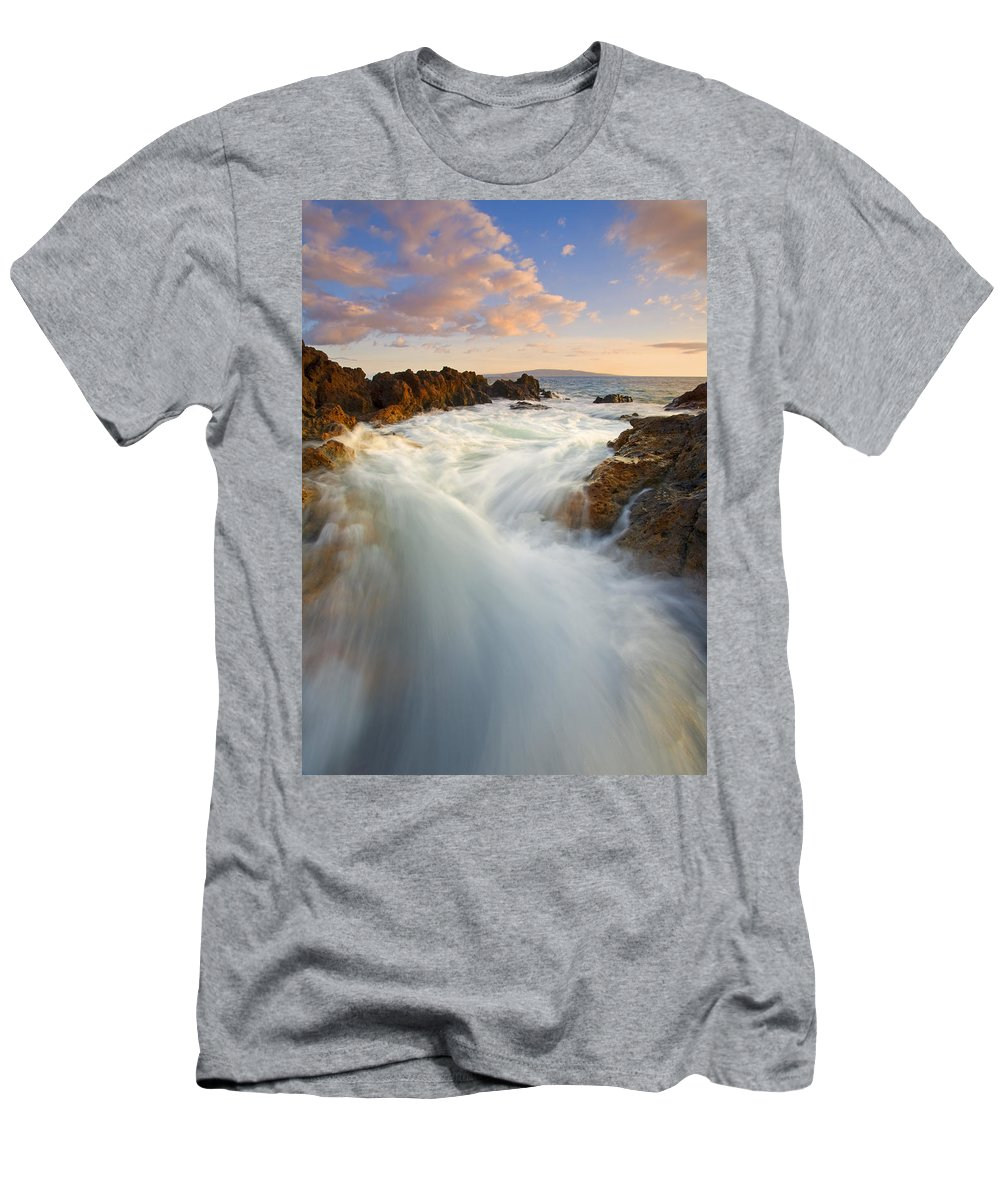 Surge Men's T-Shirt (Athletic Fit) featuring the photograph Tidal Surge by Mike Dawson