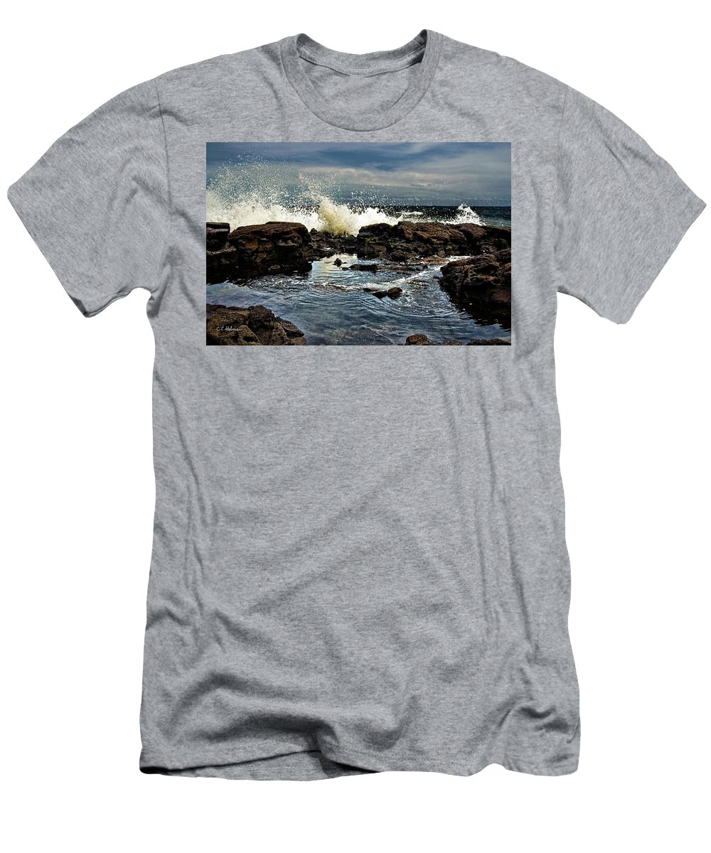 Waves Men's T-Shirt (Athletic Fit) featuring the photograph Tide Coming In by Christopher Holmes