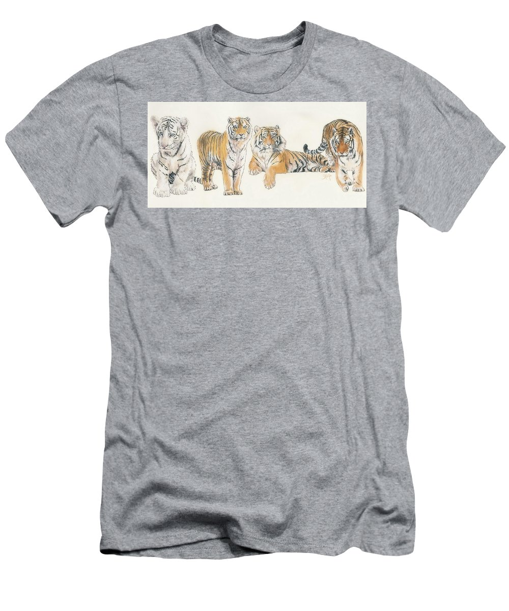 Tiger T-Shirt featuring the mixed media Tiger Wrap by Barbara Keith