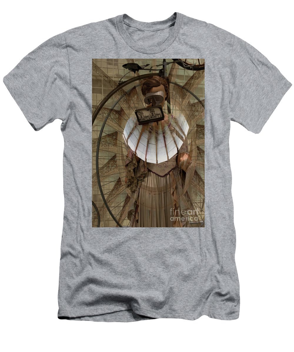 Mannequin Men's T-Shirt (Athletic Fit) featuring the photograph Time Traveler by Stacey Trujillo