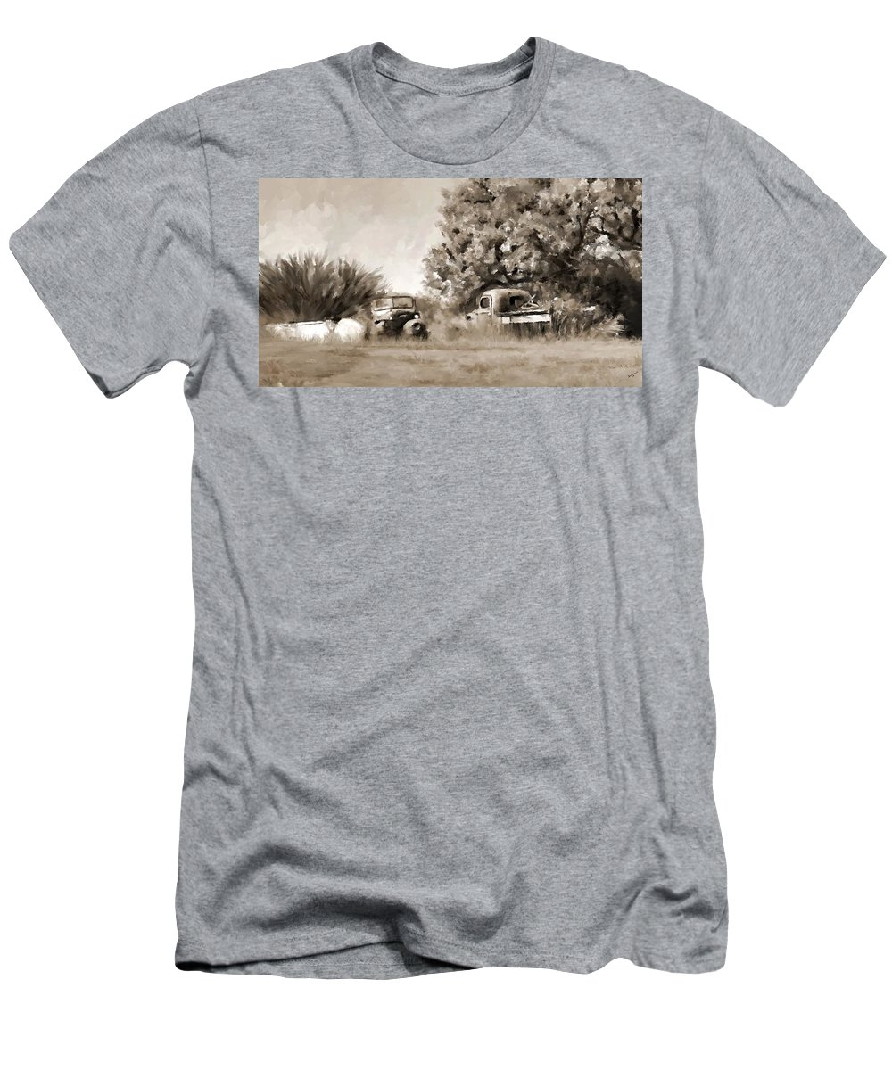 Timeworn Men's T-Shirt (Athletic Fit) featuring the painting Timeworn by Susan Kinney