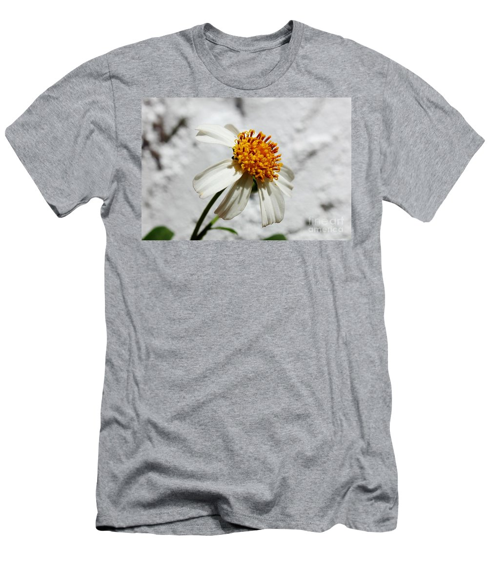 Wild Flower Men's T-Shirt (Athletic Fit) featuring the photograph Tiny Flower by Mesa Teresita