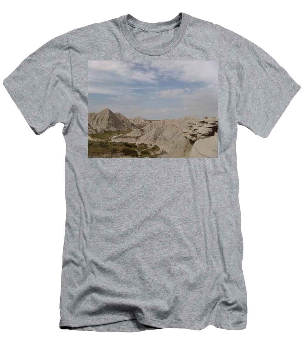 Hills Sand Clouds Toadstool Toad Stool Men's T-Shirt (Athletic Fit) featuring the photograph Toad Stool by Cindy New