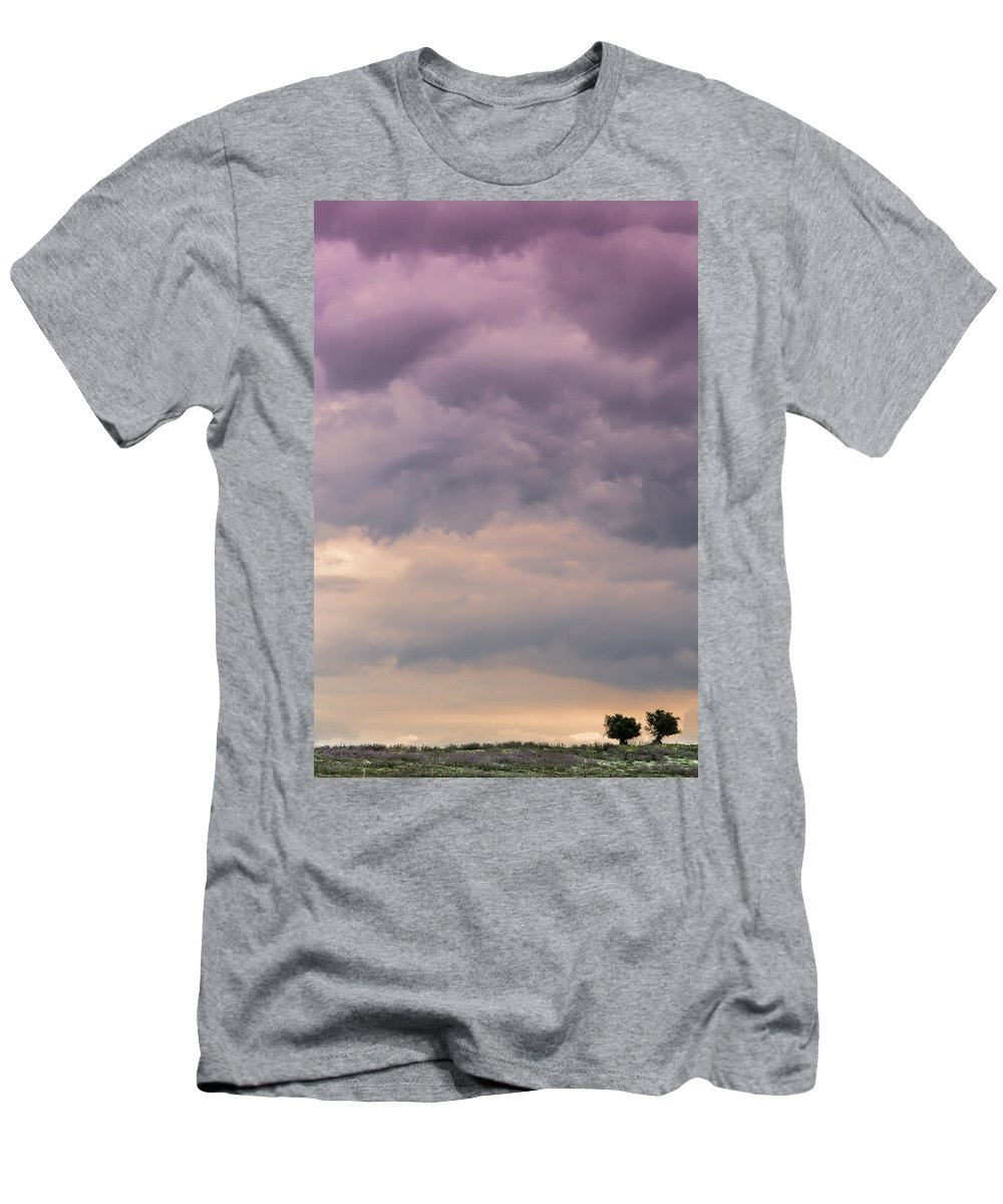 Together Men's T-Shirt (Athletic Fit) featuring the photograph Together Looking At The Sky by Edgar Laureano