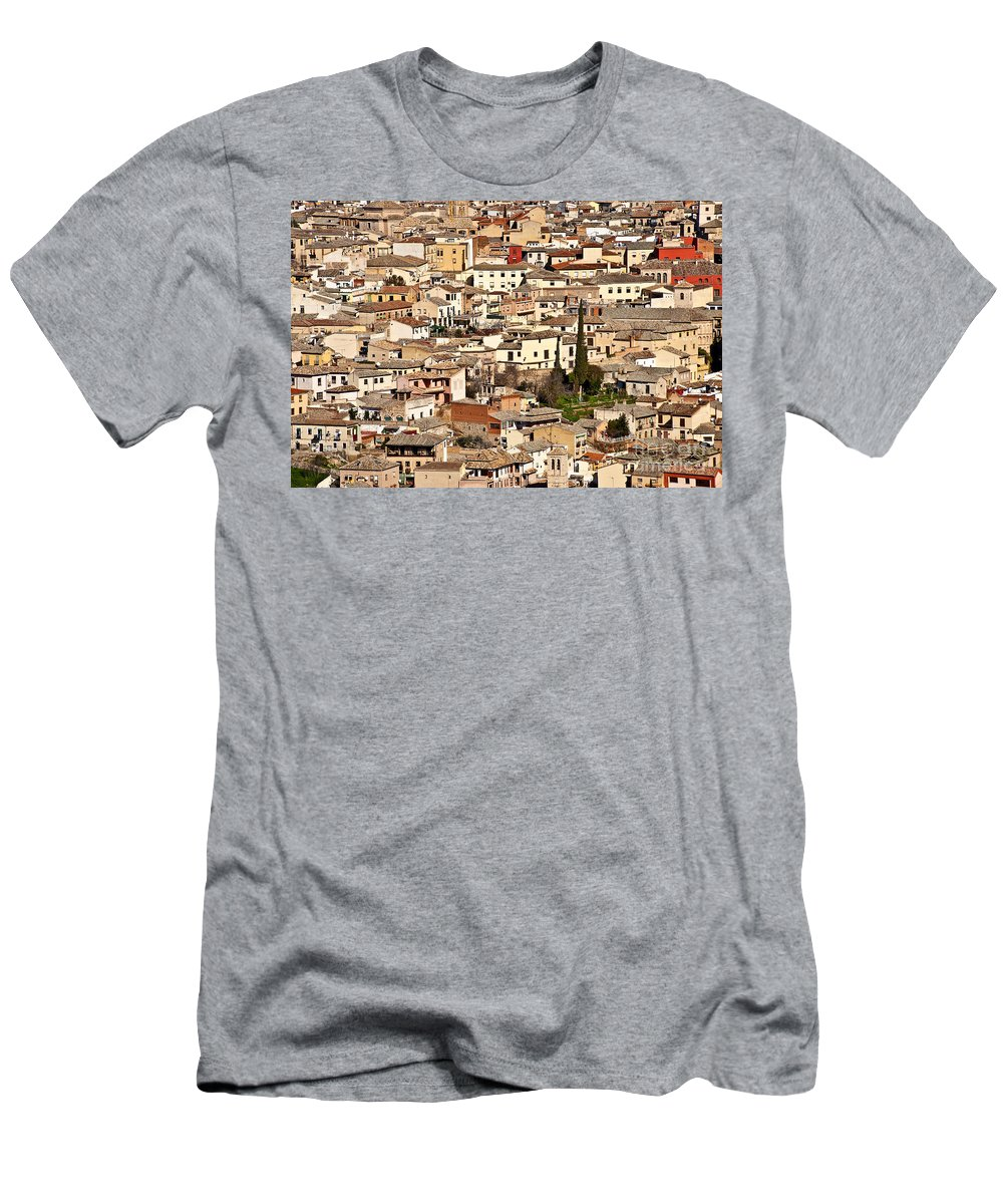 Spain Men's T-Shirt (Athletic Fit) featuring the photograph Toledo Spain by John Greim