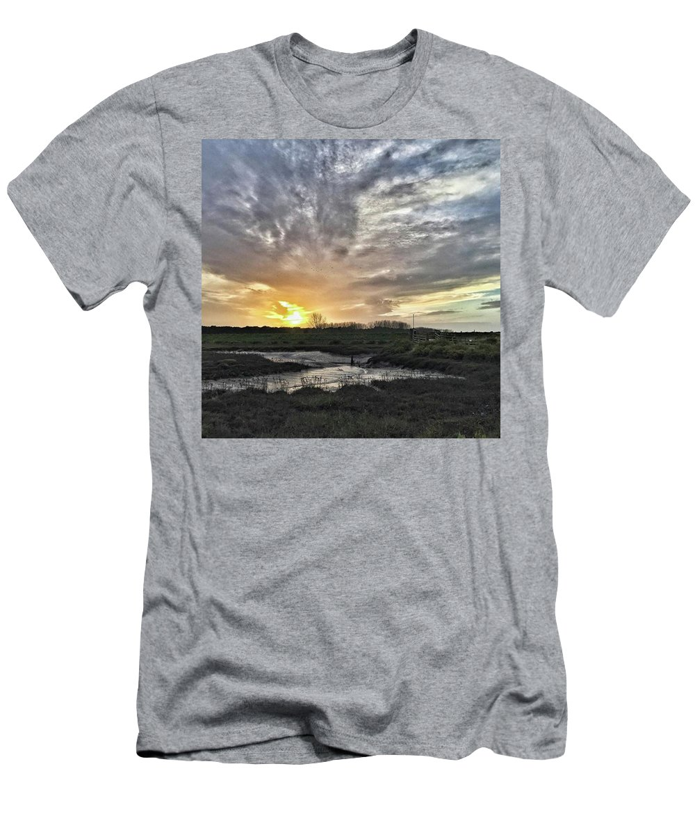 Natureonly T-Shirt featuring the photograph Tonight's Sunset From Thornham by John Edwards