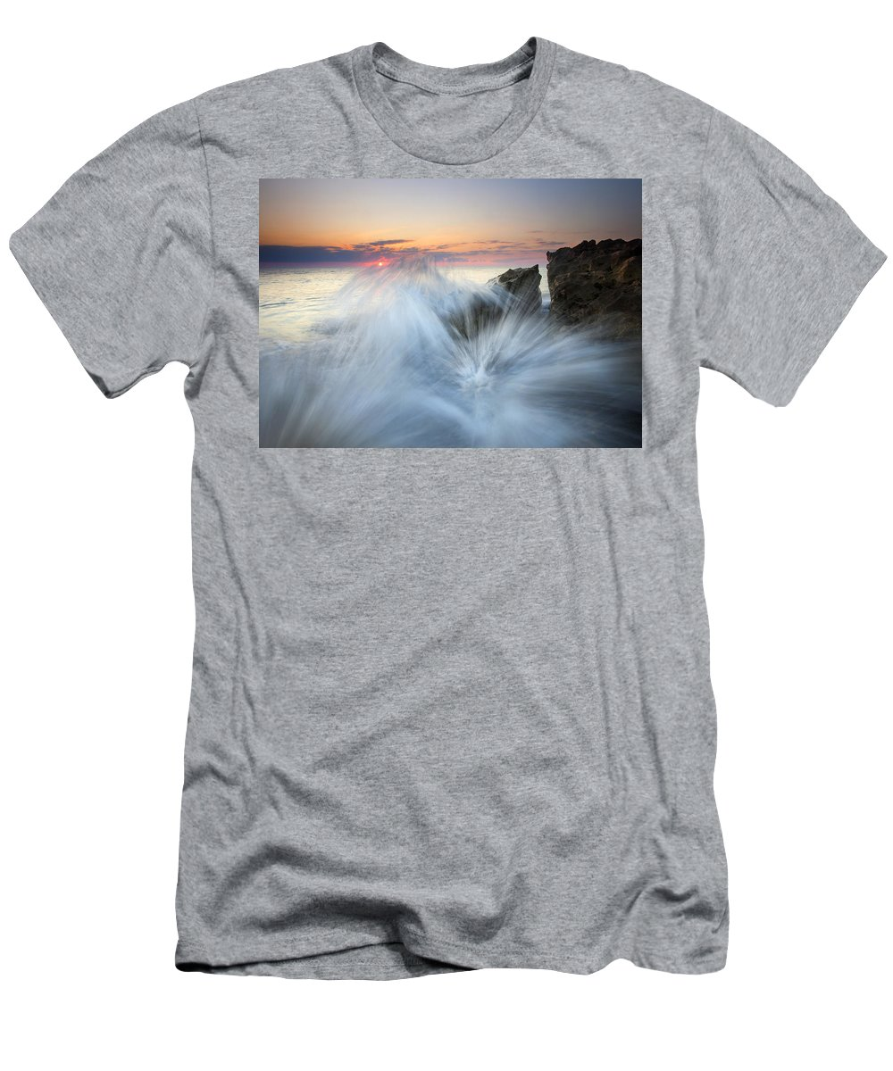 Sunrise Men's T-Shirt (Athletic Fit) featuring the photograph Too Close For Comfort by Mike Dawson