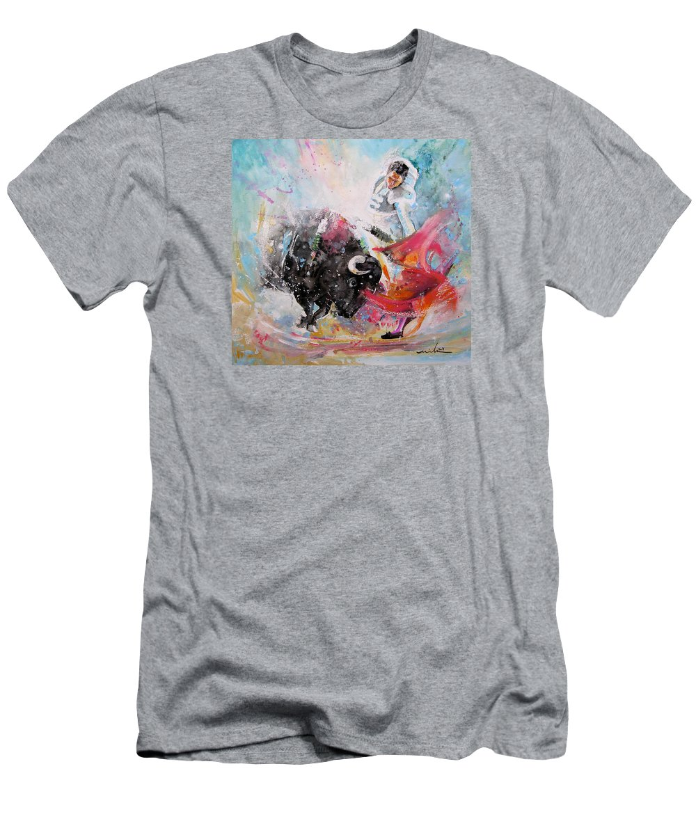 Animals Men's T-Shirt (Athletic Fit) featuring the painting Toro Tempest by Miki De Goodaboom