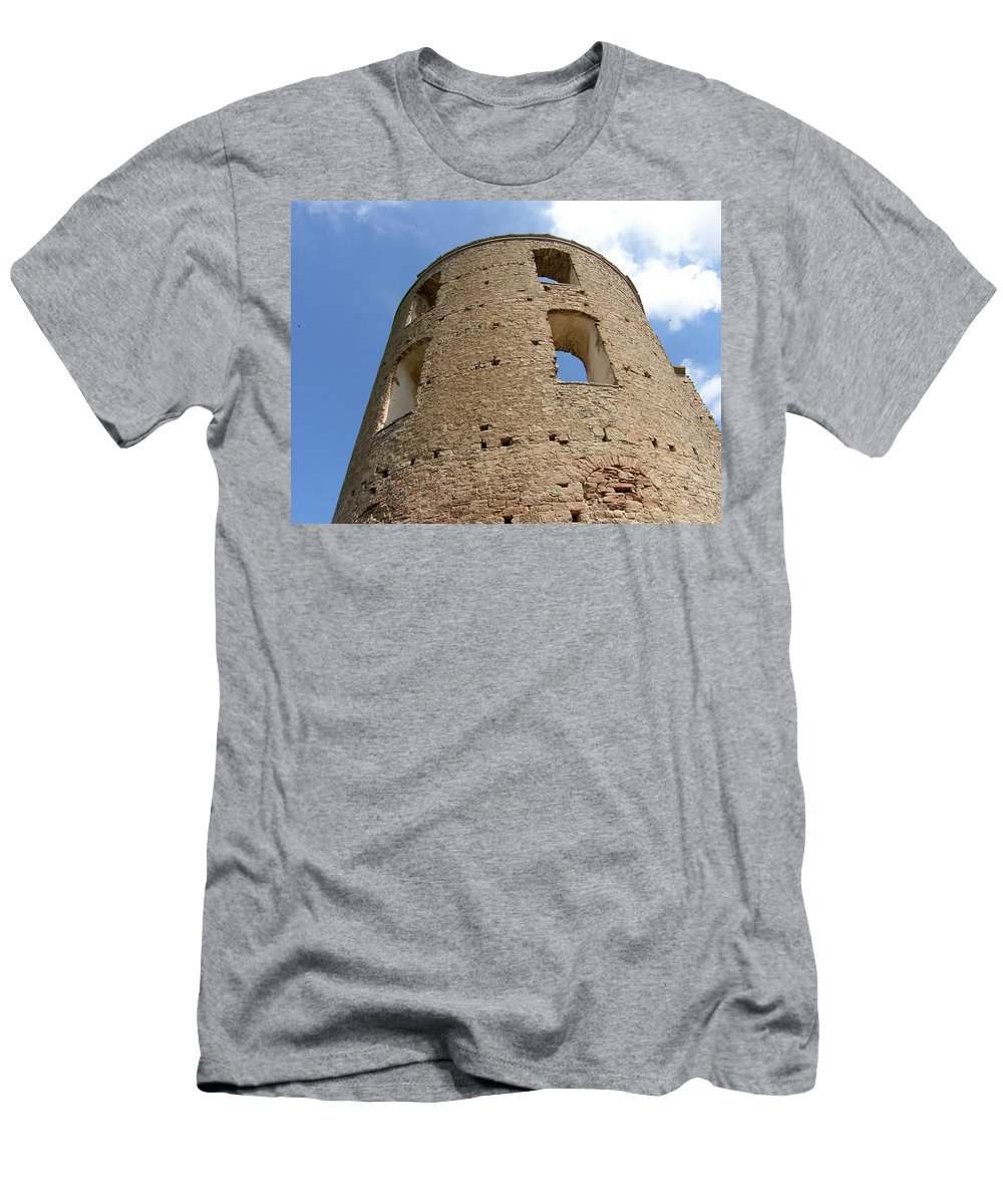 Castle Men's T-Shirt (Athletic Fit) featuring the photograph Tower by Are Lund