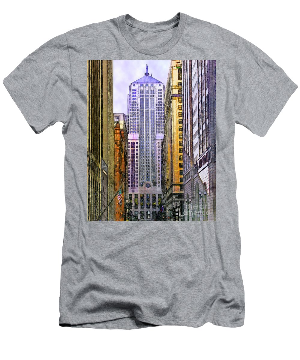Trading Places Men's T-Shirt (Athletic Fit) featuring the digital art Trading Places by John Beck