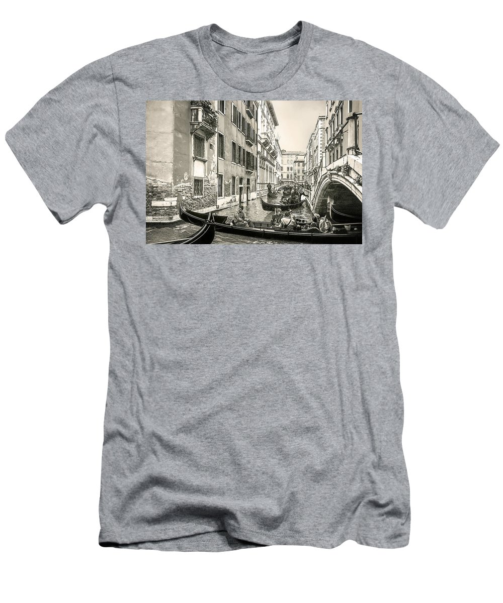Architecture Men's T-Shirt (Athletic Fit) featuring the photograph Traffic Jam by Maria Coulson